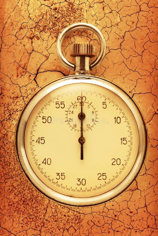 Plan rapproché de chronomètre image libre de droits