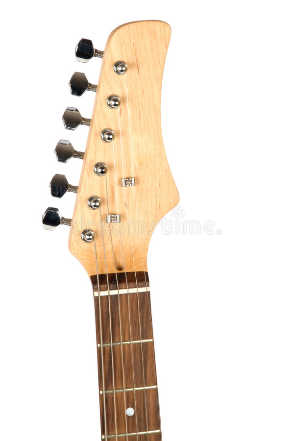Plan rapproché de cou de guitare photos stock