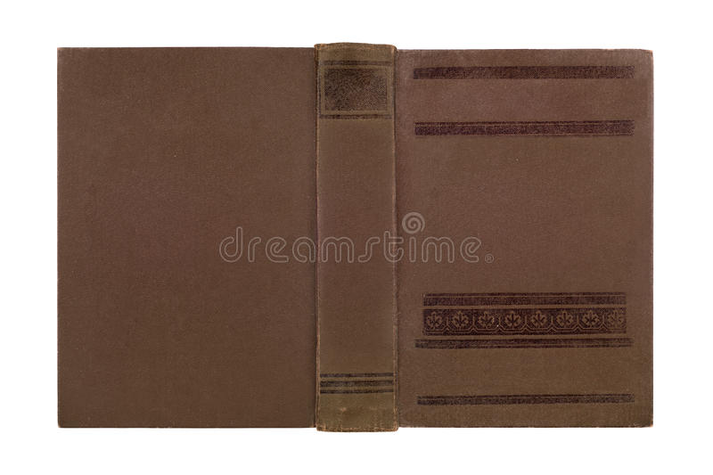 Plan rapproché de couverture de livre en cuir antique images stock