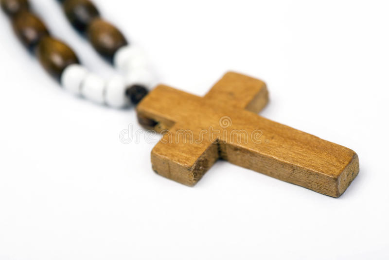 Plan rapproché de croix en bois photographie stock