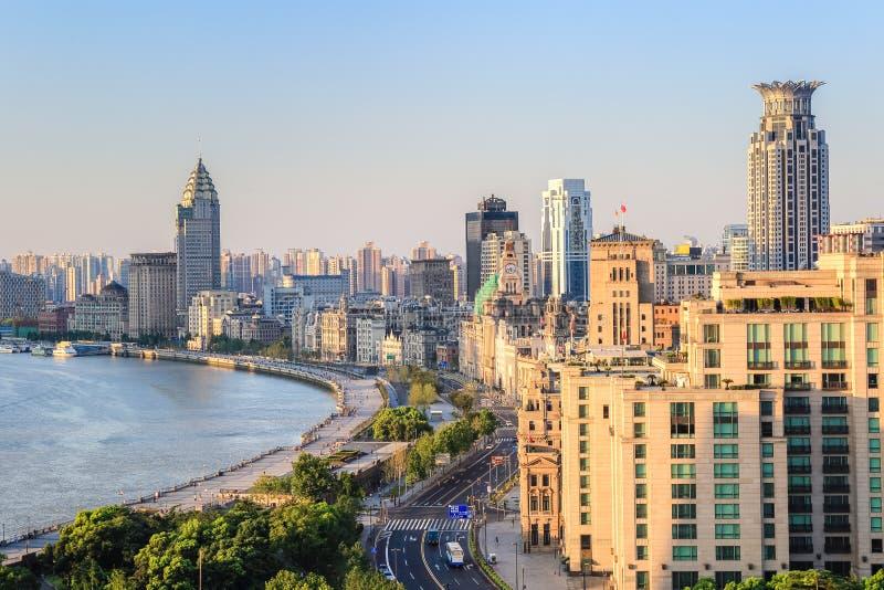 Plan rapproché de digue de Changhaï images libres de droits