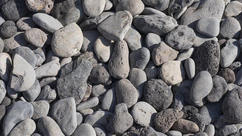 Plan rapproché de fond doux gris de Pebble Beach image libre de droits