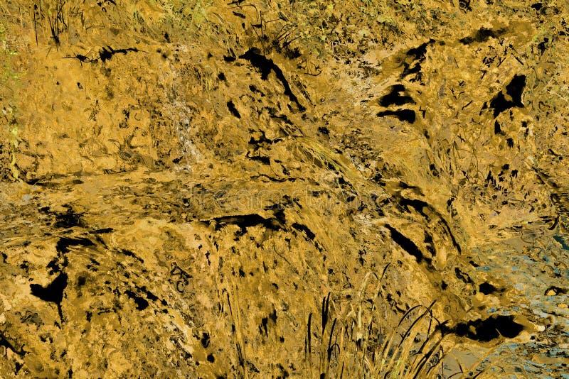 Plan rapproché de fond grunge jaune approximatif de roche photographie stock libre de droits