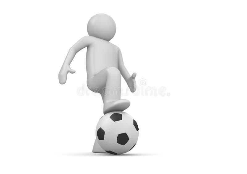Plan rapproché de footballeur illustration de vecteur