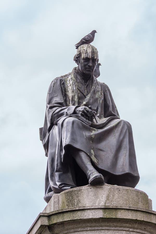 Plan rapproché de James Watt Statue sur George Square, Glasgow Scotland image stock