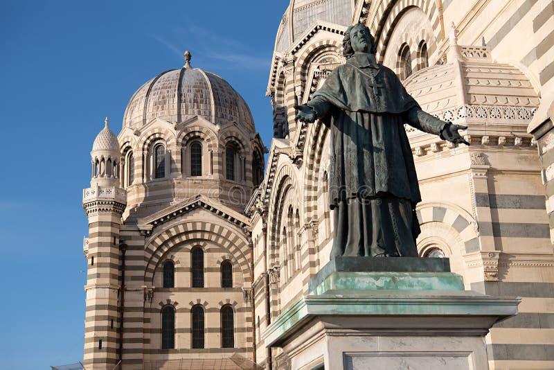 Plan rapproché de la La Major In Marseille, France de Cathedrale De image libre de droits