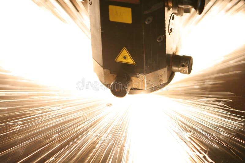 Plan rapproché de laser images stock