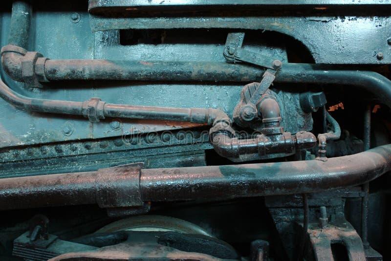 Plan rapproché de locomotive de mécanisme photographie stock