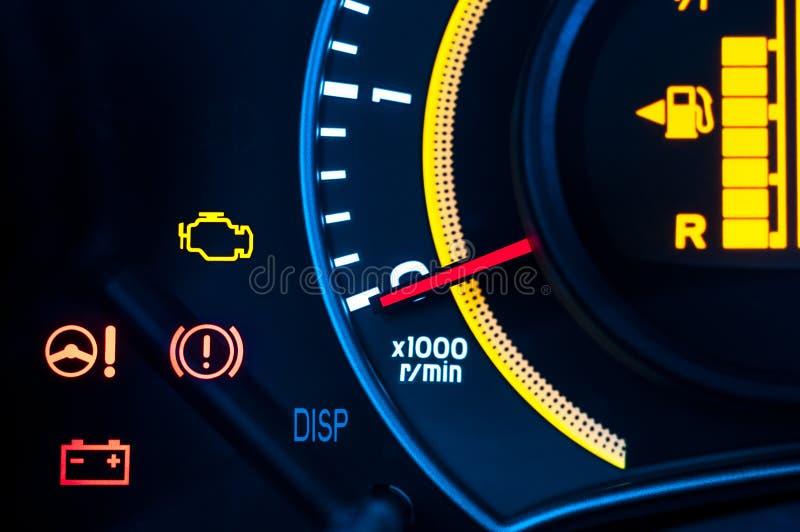 Plan rapproché de mètre de vitesse de véhicule photo libre de droits