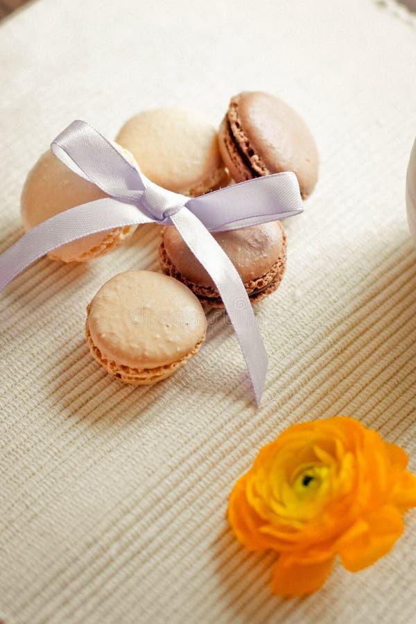 Plan rapproché de macarons photographie stock