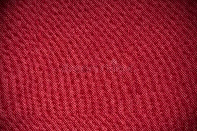 Plan rapproché de matériel de textile rouge de tissu comme texture ou fond image libre de droits