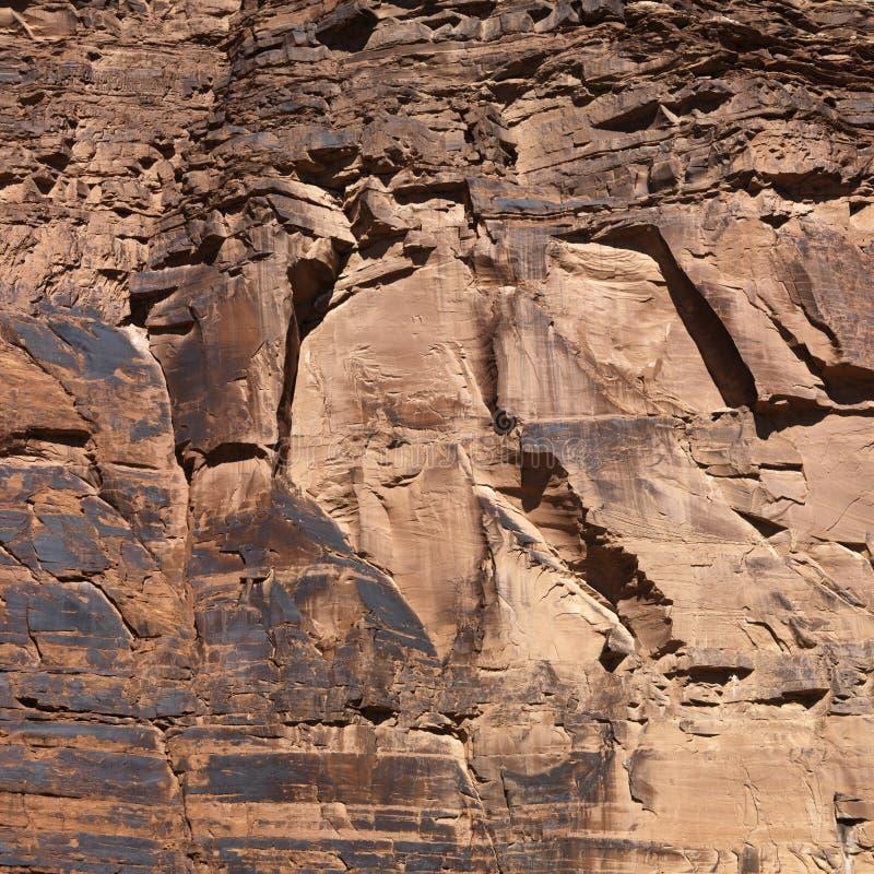 Plan rapproché de mur rouge de roche photo libre de droits