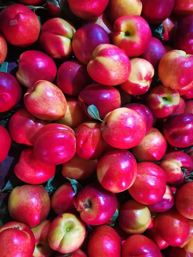Plan rapproché de nectarine photos stock