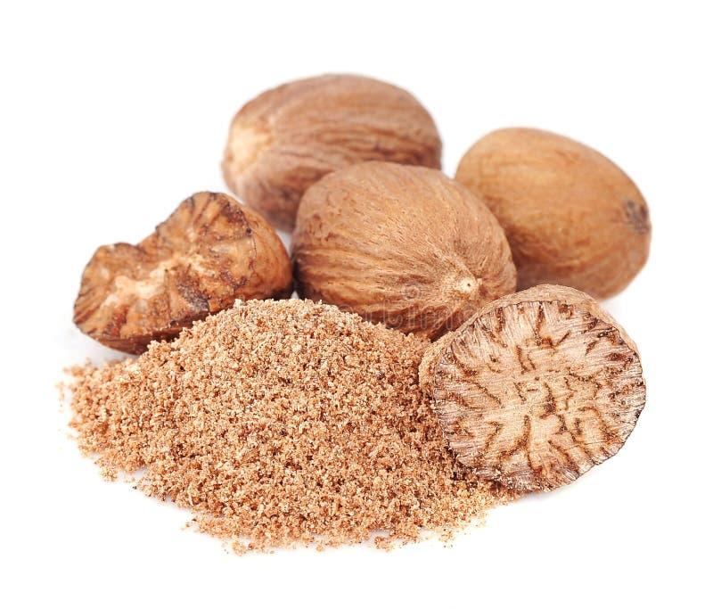 Plan rapproché de noix de muscade photo libre de droits