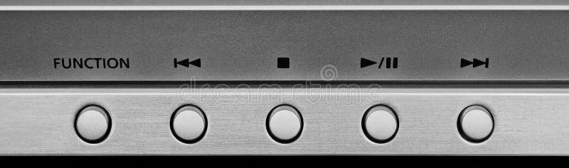 Plan rapproché de panneau de boutons images stock