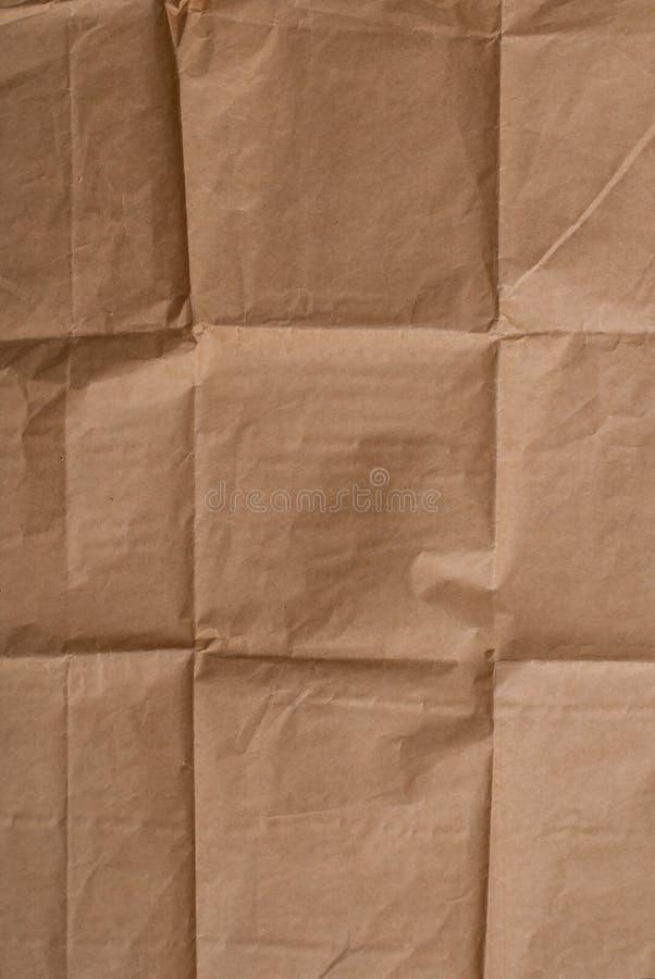 Plan rapproché de papier chiffonné image stock