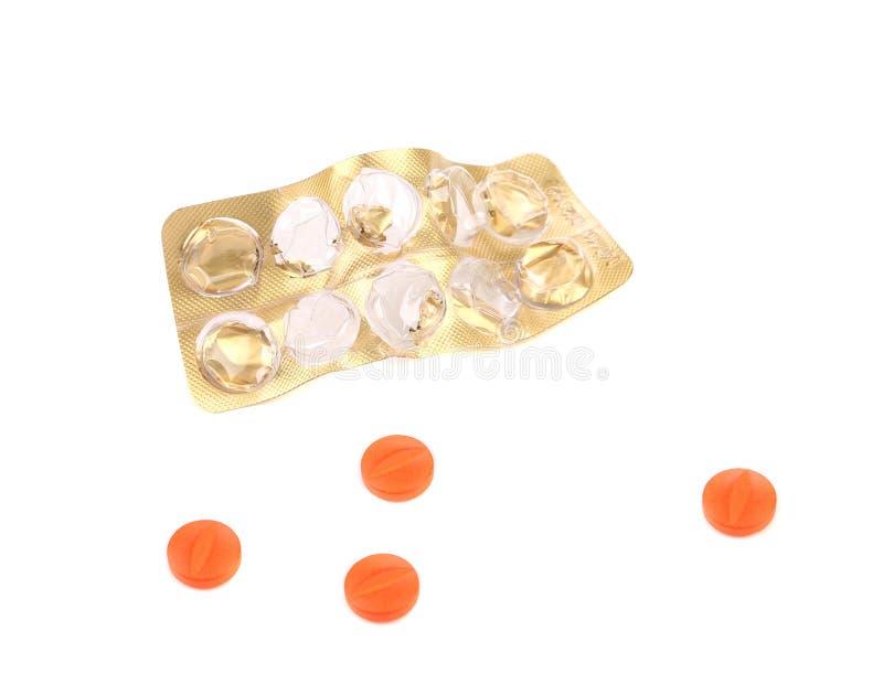 Plan rapproché de paquet et de pilules de pilule. image libre de droits
