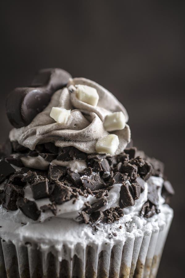 Plan rapproché de petit gâteau de chocolat photographie stock libre de droits