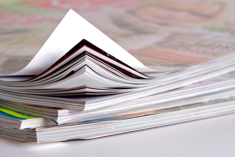 Plan rapproché de quelques revues photos libres de droits