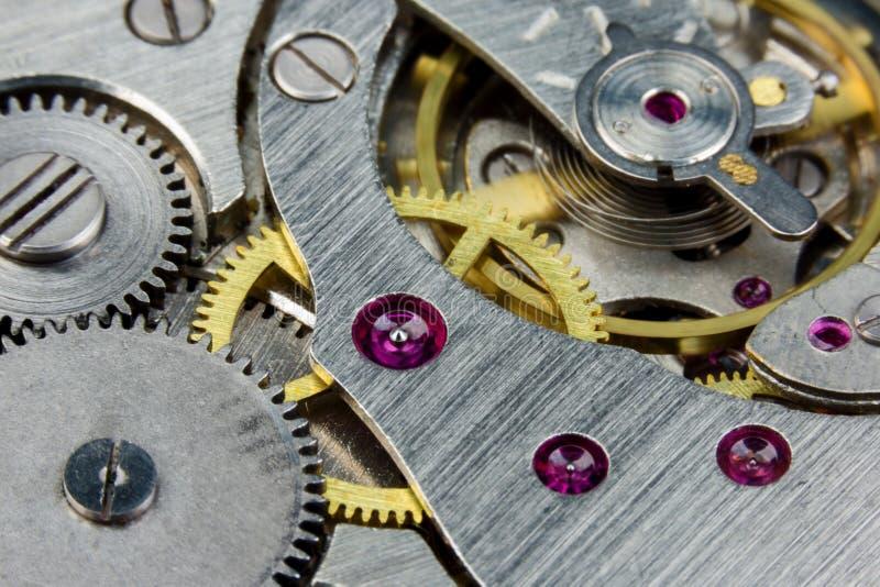 Plan rapproché de rouage d'horloge photos libres de droits