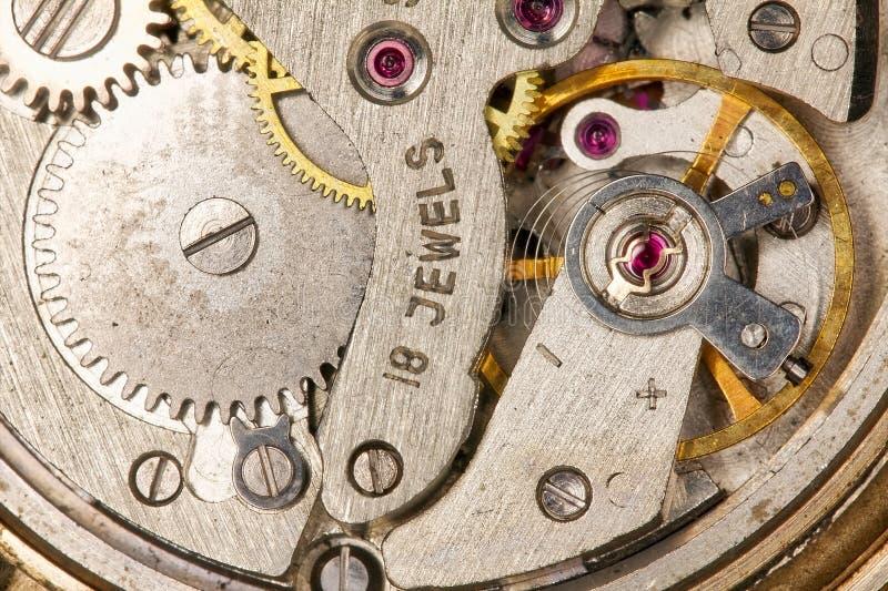 Plan rapproché de rouage d'horloge image libre de droits