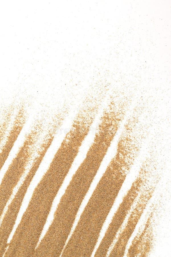 Plan rapproché de sable sur un blanc pour l'usage de fond photos libres de droits