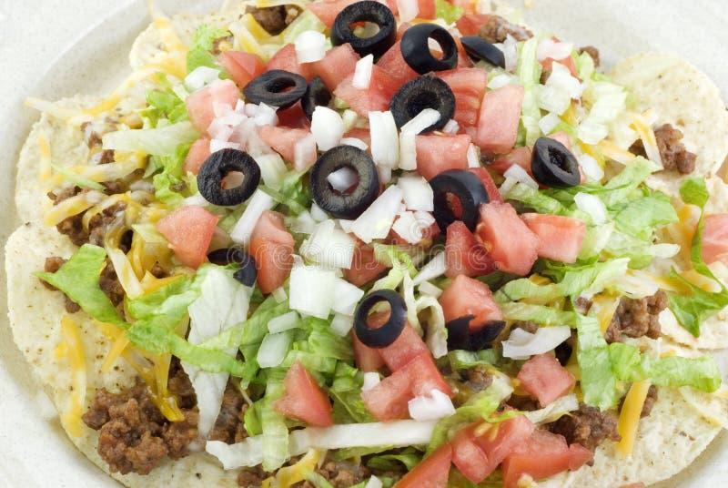 Plan rapproché de salade de Taco photo stock