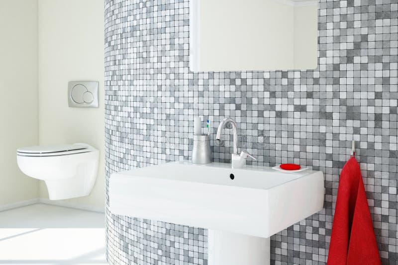 Plan rapproché de salle de bains illustration stock