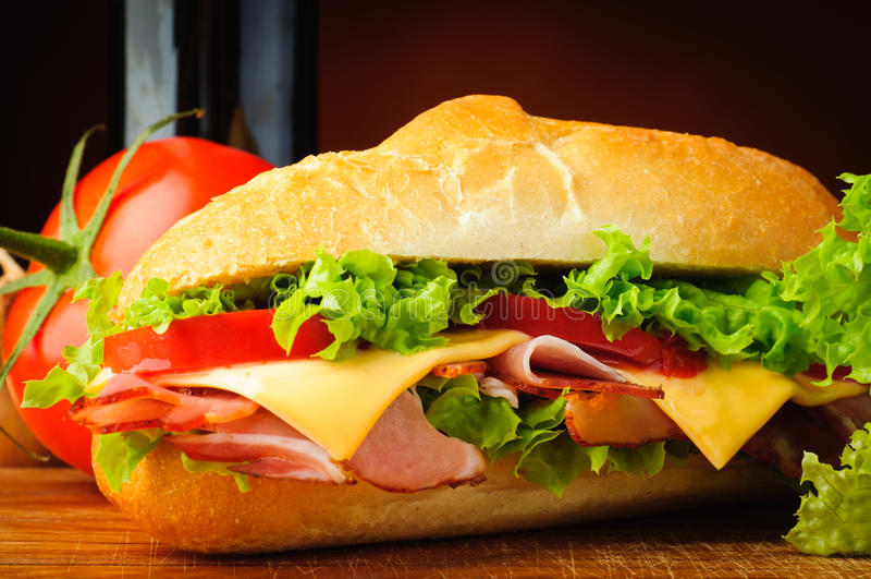 Plan rapproché de sandwich photographie stock libre de droits