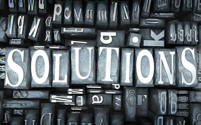 Plan rapproché de solutions illustration de vecteur