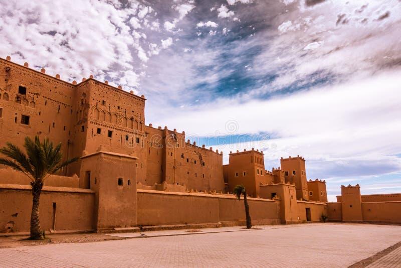 Plan rapproché de Taourirt Kasbah dans Ouarzazate, Maroc images stock