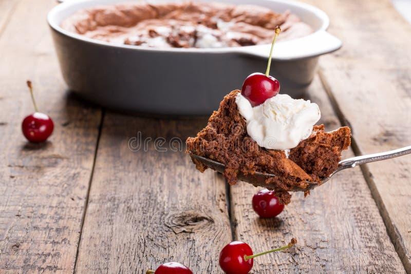 Plan rapproché de tarte de chocolat photographie stock libre de droits