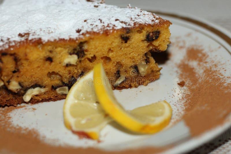 Plan rapproché de tarte de noix de potiron photographie stock