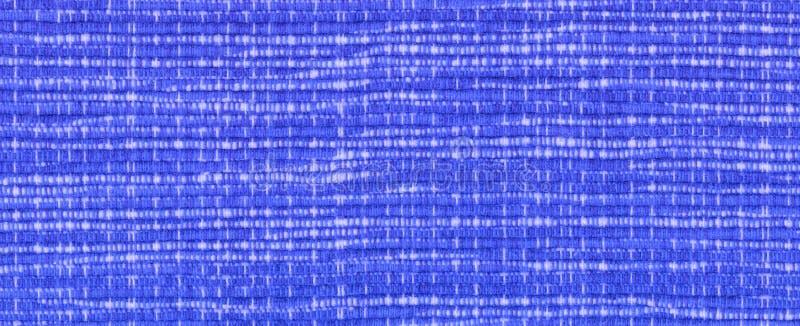 Plan rapproché de textile tissé bleu image stock