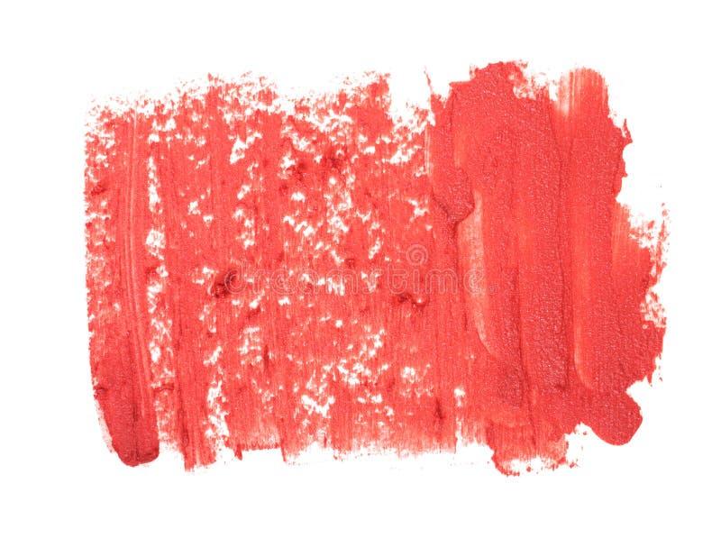 Plan rapproché de texture rouge de rouge à lèvres images stock