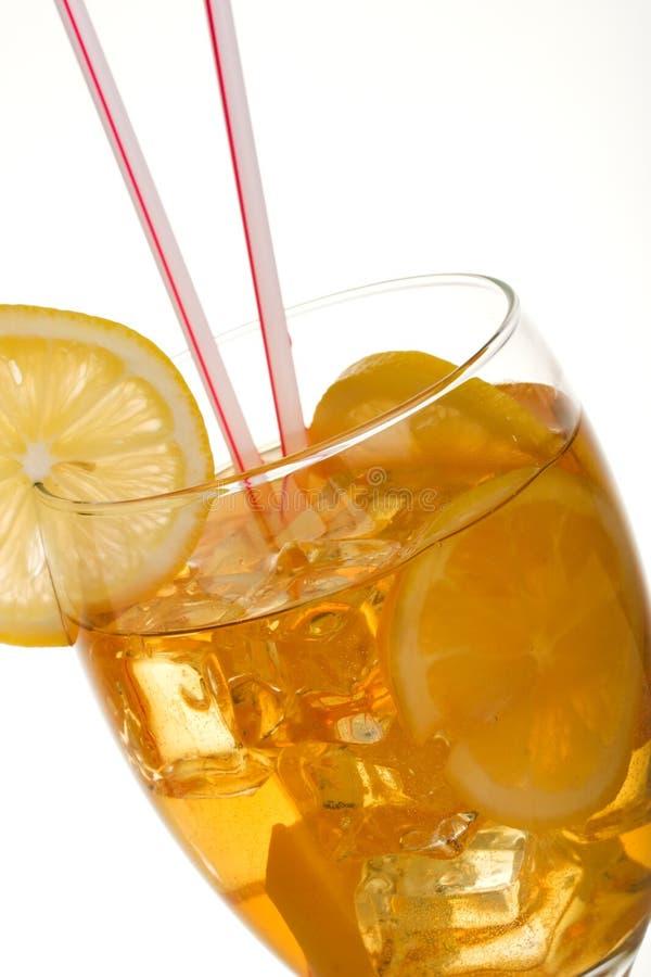 Plan rapproché de thé glacé image stock