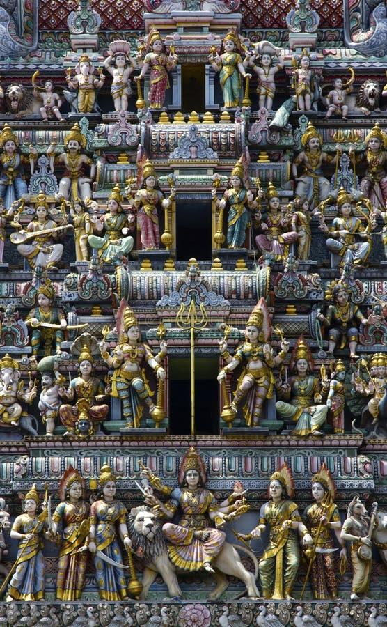 Plan rapproché de toit de temple de l'Inde photos libres de droits