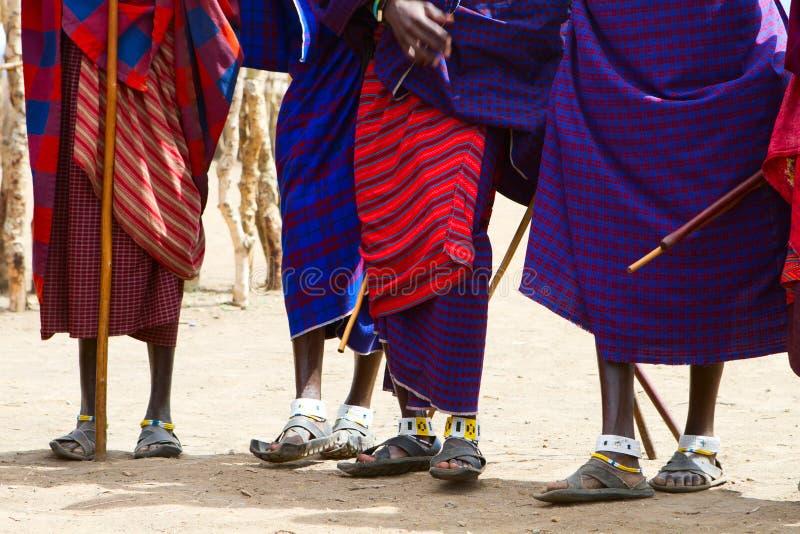 Plan rapproché de tribu de masai photos libres de droits