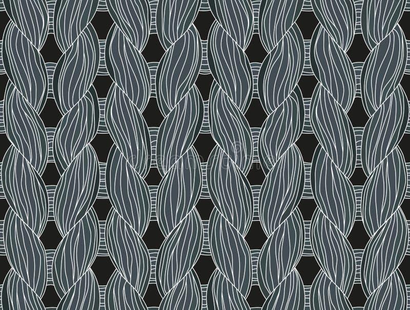 Plan rapproché de tricotage illustration stock