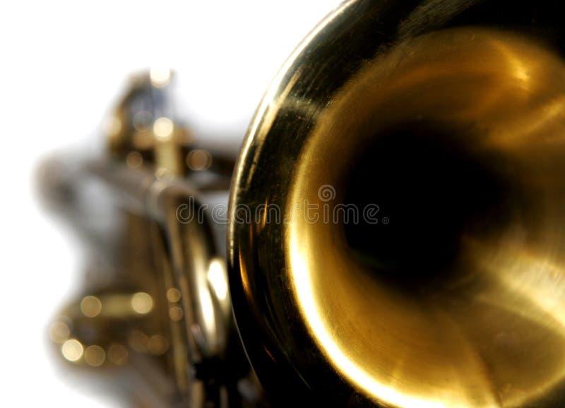 Plan rapproché de trompette photographie stock