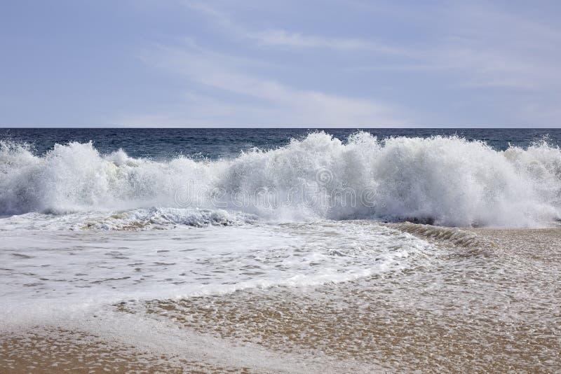 Plan rapproché de vague de plage photos libres de droits