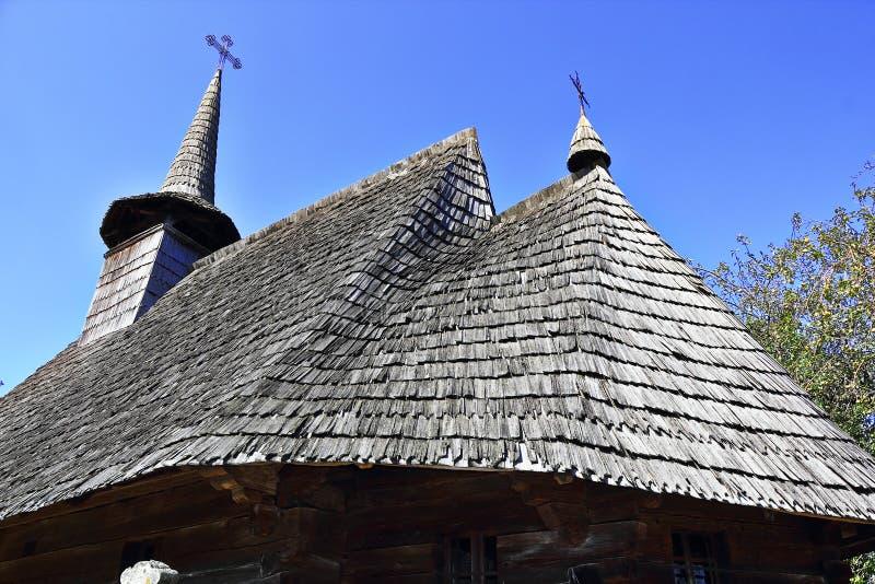 Plan rapproché de vieux toit en bois d'église photo libre de droits