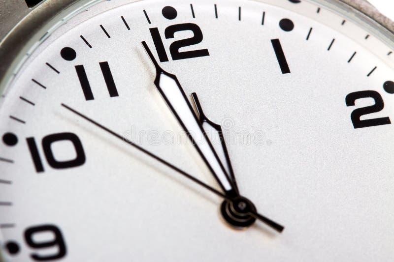 Plan rapproché de visage d'horloge photo stock
