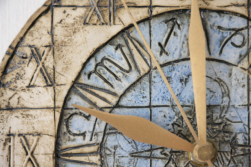 Plan rapproché de visage d'horloge photographie stock