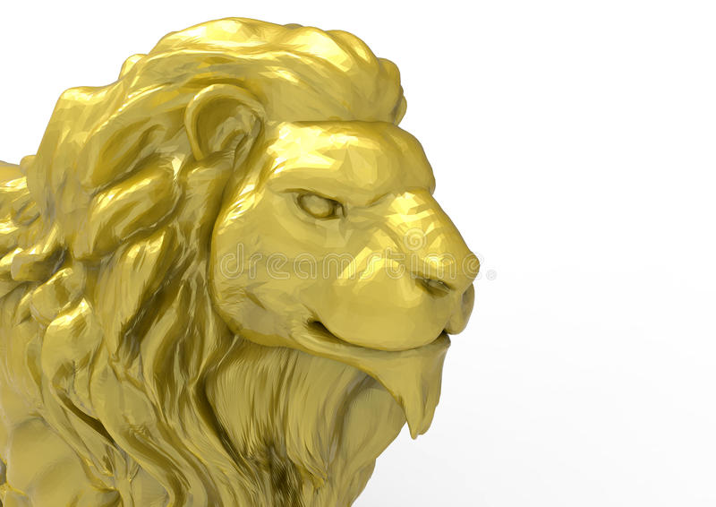 Plan rapproché de visage de lion illustration libre de droits