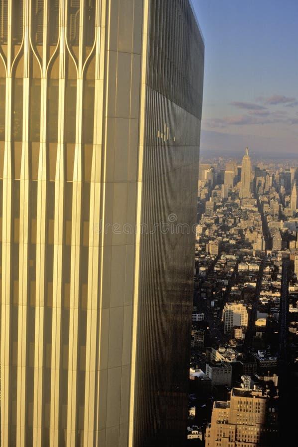 Plan rapproché de World Trade Center, Wall Street, New York City, NY image libre de droits