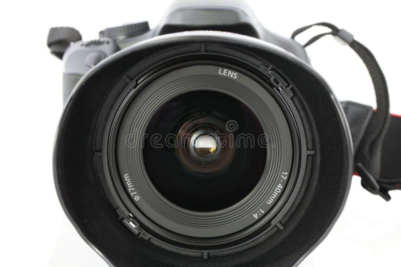 Plan rapproché de zoom grand-angulaire sur l'appareil-photo photos libres de droits