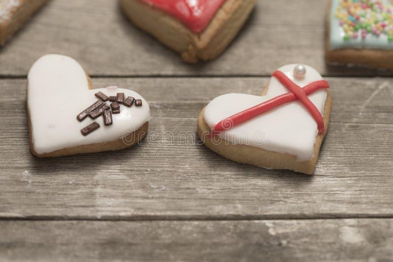 Plan rapproché des biscuits cuits au four délicieux photo stock