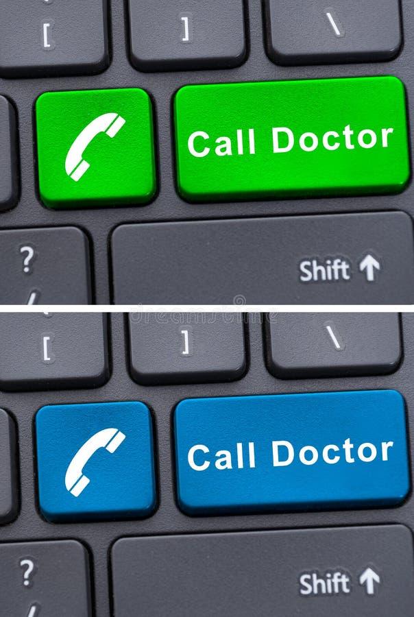 Plan rapproché des boutons de docteur d'appel photos stock