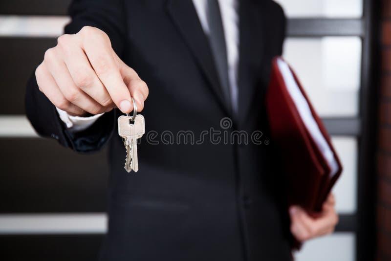 Plan rapproché des clés de maison photographie stock libre de droits